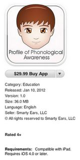 Profile of Phonological Awareness App Review -  Pinned by @PediaStaff – Please Visit http://ht.ly/63sNt for all our pediatric therapy pins