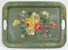 Vintage Cottage Chic Serving Tray