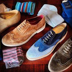 Men's Fashion & Style. #Brogues & Socks #mensfashion #dapper