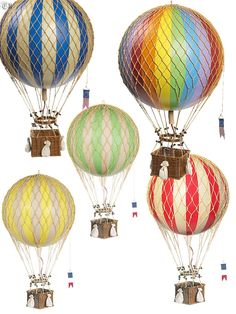 I so want some of these Authentic Models' hot air balloons!