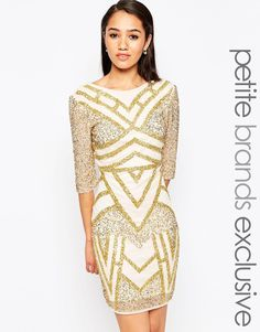 Gold body con dress! Perfect for a night out!