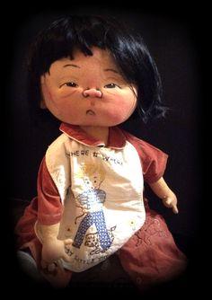 """Oh Where Oh Where Has My Little Dog Gone?""  Ooak. Y doll artist Jan Shackelford"