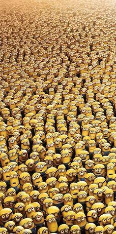 One a minion, two a minion, three a minion! I want all the minions! - Despicable Me movie Cute Minions, Minions Despicable Me, Minions Fans, Funny Minion, Cute Disney Wallpaper, Cute Cartoon Wallpapers, Minion Wallpaper Iphone, Minions Language, Wallpaper Iphone Disney