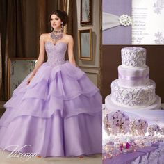 Lavender is the ultimate girly color that will liven up the reception space to the max.   #quinceaneradotcom #quinceanera #quince