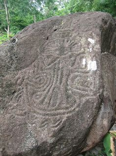 My main reason for my hike to the Maderas Volcano Hike was to see some of the pre-colombian petroglyphs in Ometepe, Nicaragua. Unfortunately there were only a few pre-colombian petroglyphs on this hike, and this photo shows the best one we saw. These