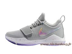 separation shoes 40e60 f74e7 Nike PG 1 Wolf Grey 878627 ID11 Chaussures Nike Pas cher Pour Homme Gris-Air  Jordan