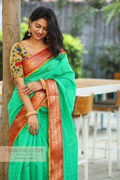 A Road MLA Colony Banjara Hills Hyderabad - Contact : 9160560480 to Indian Beauty Saree, Indian Sarees, Saree Dress, Sari, Modern Saree, Indian Attire, Indian Wear, Indian Outfits, Silk Saree Blouse Designs