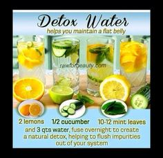 Healthy Detox. A Perfect Way To Get A Flat Stomach!