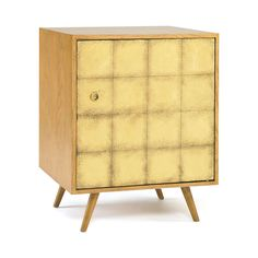 Franklin Gold Leaf Side Cabinet | The newest piece in our Franklin collection, this side table features the same unfussy modern shape and unexpectedly luminous gold leaf finish.