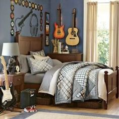 Music And Guitars Themed Bedroom
