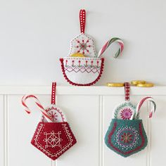Craft download, felt, embroidery using stranded cotton and simple stitches