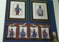 RABBIT FOLK BOOK #19 c1988 OOP Cross Stitch Pattern PRAIRIE SCHOOLER #PrairieSchooler
