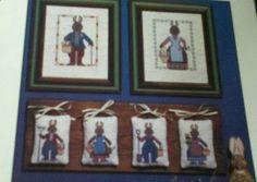 RABBIT FOLK BOOK #19 c1988 OOP Cross Stitch Pattern PRAIRIE SCHOOLER #PrairieSchooler