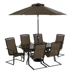 Living accents metropolitan swivel rocker set of 4 for Living accents patio furniture