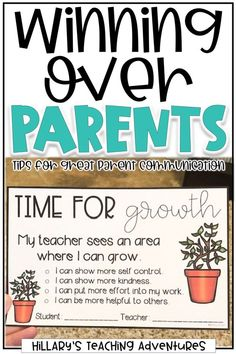 Parent-teacher communication can be daunting for any educator. Discover tips for winning parents over, such as talking often and sending home positive notes about your students. 3rd Grade Classroom, Future Classroom, School Classroom, Classroom Ideas, Montessori Classroom, Parent Teacher Communication, Parent Teacher Conferences, Parent Notes, First Year Teachers