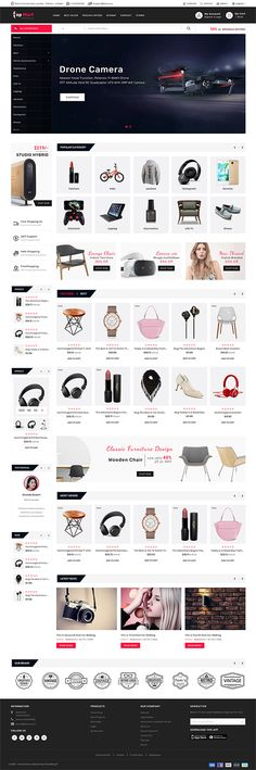 TopMart - Online Shopping Trade Template is a good choice for selling - Source by mariaadeckerus quotes Ecommerce Website Design, Website Design Layout, Computer Theme, Shopping Websites, Online Shopping, Photoshop, Website Themes, Website Ideas, Animal Design