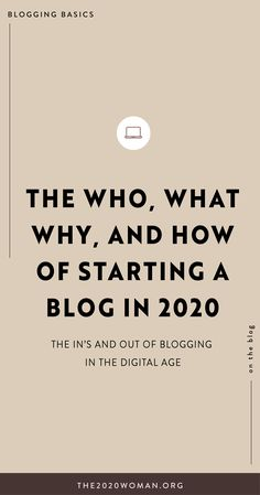 Blogging, let's talk about it. How do you start one? Why do you need one? In 2020, starting a blog is hella' important for the success of a new business. We'll break down the in's & outs of blogging and why you need to start one in this new decade. #blogging #entrepreneur