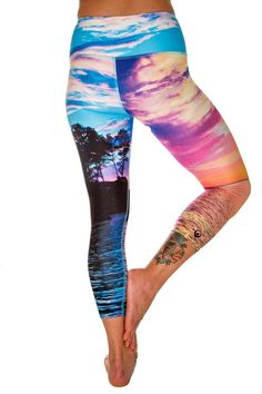 12fb3259bb485 Inner Fire - Island Bliss Capri Fire Island, Fun Prints, Yoga Pants, Capri