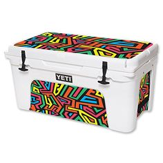MightySkins Protective Vinyl Skin Decal for YETI Tundra 65 qt Cooler wrap cover sticker skins Hyper *** For more information, visit image link.(This is an Amazon affiliate link)