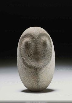 Neolithic sculpture 3rd-2nd millenium BCE. Cult stele or simple sculpture of a owl, from Algeria.