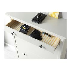 HEMNES Shoe cabinet with 2 compartments, white white 35x50