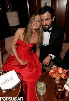 Jennifer Aniston and Justin Theroux at the Vanity Fair party