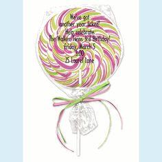 Lollipop Invitation - click to enlarge