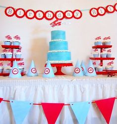 """""""Our favorite theme so far has been the vintage airplane party we threw for my little fellow's 5th birthday. There are so many fun activities that go with the classic theme, from launching paper planes to runway races — it reminds me of how fascinating air travel is to a little one (mama too)!"""" —Kristen D. of Mary Had a Little Party See Kristen's Vintage Airplane Party>> Source: Mary Had a Little Party"""
