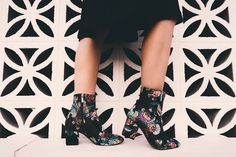 Embroidered  #booties #ankleboots #style #blogger #fashion #embroidered #sockboots #embroideredshoes