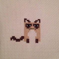 Subversive Cross Stitch - Grumpy Cat   #thirddaughterrestlessdaughter