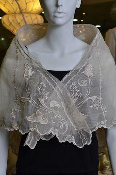 I really like the idea of having a pina shawl Modern Filipiniana Gown, Filipiniana Wedding Theme, Silk Shawl, Bridesmaid Dresses, Prom Gowns, Wardrobes, Fashion Dresses, Ruffle Blouse, My Style
