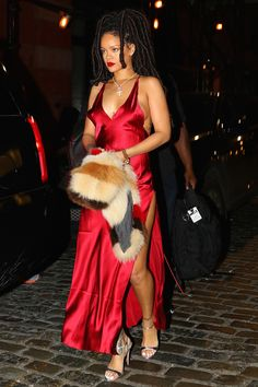 Rihanna stunned in a killer red dress