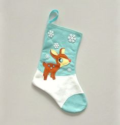 Hey, I found this really awesome Etsy listing at https://www.etsy.com/listing/198556151/retro-rudolph-deer-christmas-stocking-in