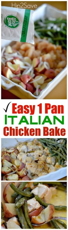 Easy 5 Ingredient Italian Chicken Bake. A great main and protein dish for your dinner. Recipe from Hip2Save.com.