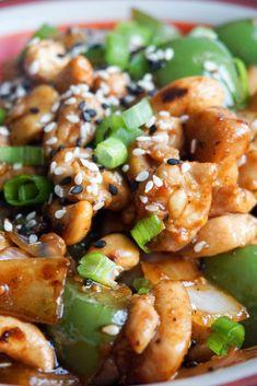 easy cashew chicken close