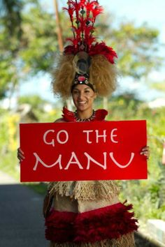 The Manu is TRULY our nations most beloved team. Miss Samoa 2010 supporting the Manu Samoa.