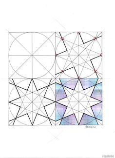 #islamicdesign #islamicgeometry #islamicart #geometry #symmetry #pattern #handmade #Escher #mathart #regolo54 #tessellation #tiling