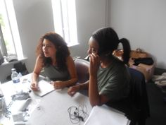 Young Producers team - Celia and Aminat Assistants to the Costume Designer are learning how to take notes for each character's costume. It is an important step in the process as it defines all the right costumes and accessory for each actor. London Metropolitan, Character Costumes, Take That, Notes, War, Actors, Learning, Summer