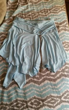 NWOT Womens Ruffle Tiered Mini Skirt Blue , size M in Clothing, Shoes & Accessories | eBay