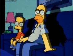 The Simpsons Bart and Homer Homer Simpson, The Simpsons, Kubo And The Two Strings, Anime Gifs, Sarada Uchiha, Animation, Cartoon Memes, Cartoon Icons, Futurama