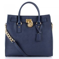 Michael Kors Navy Saffiano Hamiltion Tote Women's Bag- The newest addition to my collection, courtesy of boyfriend :)