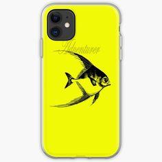 'Adventurer The Fish' iPhone Case by Beer-Bones Iphone Wallet, Iphone 11, Adventurer, Iphone Case Covers, Cover Design, Bones, Fish, Art Prints, Printed