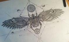 Scarab tattoo design by LarsLunsing.deviantart.com on @DeviantArt