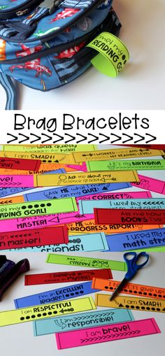 Brag Bracelets are perfect for classroom management and positive reinforcement! Love that students can wear them or put them on their backpacks for parents to see! Print, cut and go!