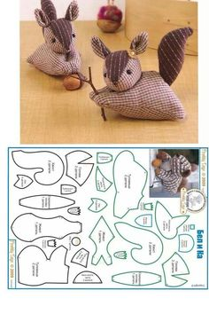 DIY Squirrel Plushie - FREE Sewing Pattern