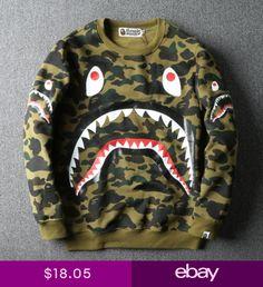 d1b78aa7ea35 A BATHING APE BAPE Hoodie Sweater Mens Long Sleeve Pullover Shirt Jacket  Coat