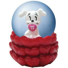Betty Boop Figurine Globe with Love Motif & Pudgy Holding Valentine by StealStreet.