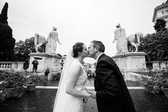 Lovely photo of Joe and Carrie at their wedding in Rome! www.weddingsinrome.com