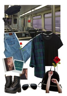 """""""You FrIGHTen me"""" by jordanrosling07 ❤ liked on Polyvore featuring Element, Polaroid, Dr. Martens and Design Lab"""