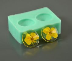 Silicone mold 18 х 6 mm round faceted lens cone 2 pcs - For making earrings, pendants - For epoxy resin and polymer clay
